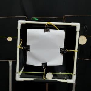 Objetivo de papel GM&BW,tamaño oficial del mundial de tirachinas,adhesivo