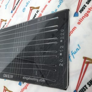 GM&BW Flat band cutting template, High Quality of Acrylic Board