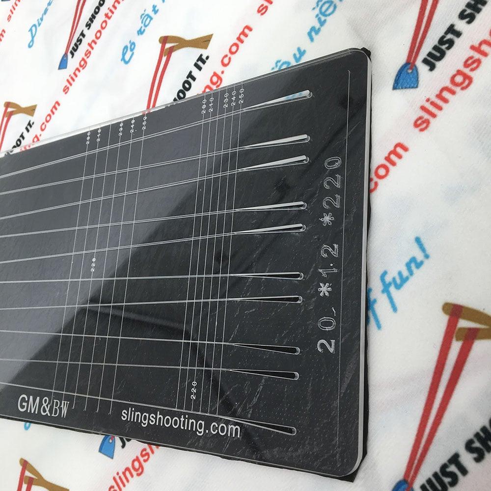 Plantilla de corte de goma plana GM&BW, placa de alta calidad de acrílico 3
