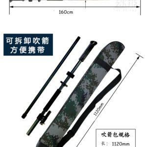 Blow gun with carrying bag