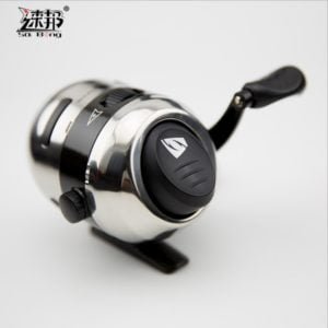 catapult fishing reel metallic