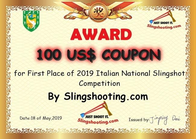 Italian slingshot championship award