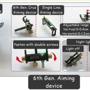 Qice D1 OTT slingshot 6th aiming device