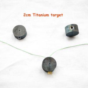 2cm titanium target