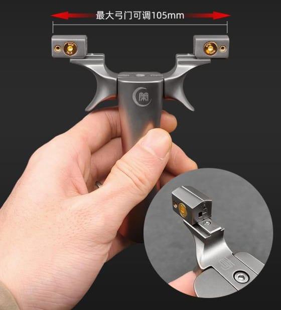 titanium ott slingshot with movable clips