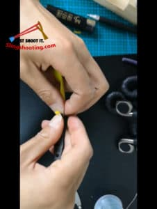 cómo atar gomas tirachinas
