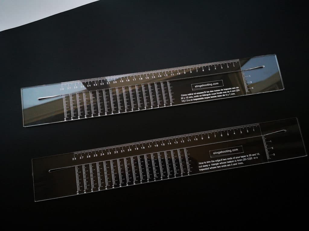 cut slingshot bands universal ruler