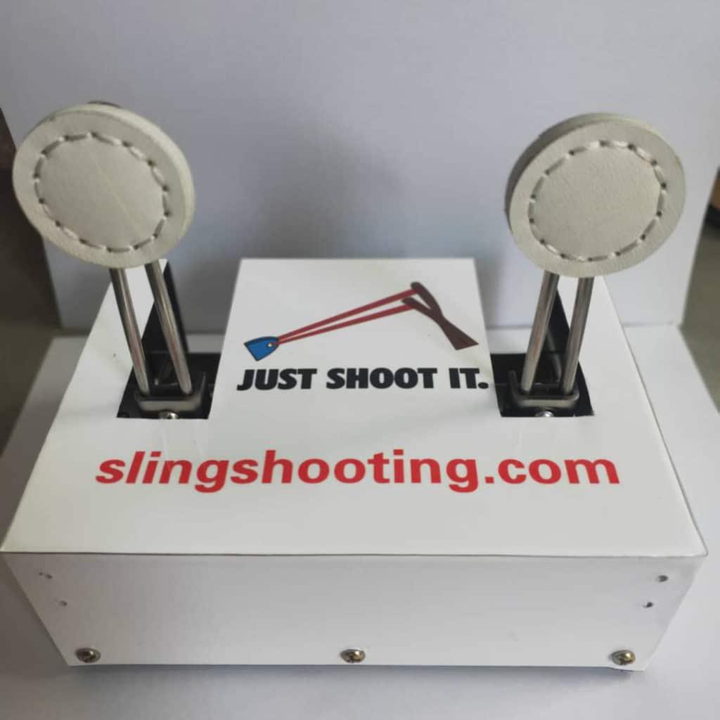 self-erecting slingshot targets